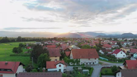 splendid : A small village in a beautiful Slovenia. Aerial shot. The colours of the nature are splendid.