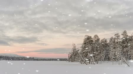 sniezynka : Winter landscape at sunset