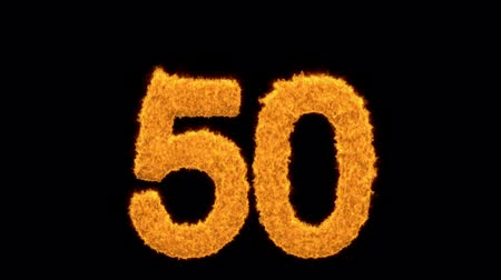 ötvenes : Decorative fiery number 50 for a golden jubilee