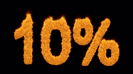 matemática : 10 percent in Fiery flaming golden numerals