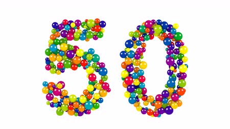 Colorful dynamic number 50 for a golden jubilee