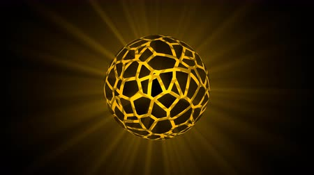 Glowing orb or sphere showing Voronoi fracture with a geometric honeycomb. Stock photography Glowing orb or sphere showing Voronoi fracture with a geometric honeycomb