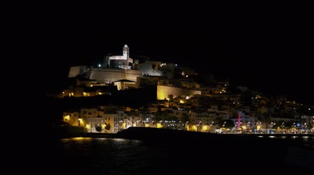 dark bay : Dalt Vila Ibiza castle at night