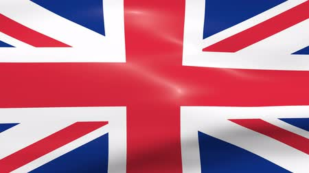 büyük britanya : Waving UK Flag Stok Video