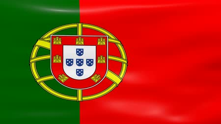 portugalsko : Waving Portugal Flag, ready for seamless loop.