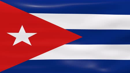 kübalı : Waving Cuba Flag, ready for seamless loop.