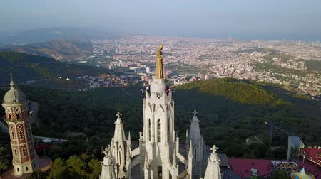 Каталония : Tibidabo mountain, Barcelona, Catalonia, Spain. Стоковые видеозаписи