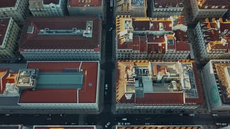 paco : Sky view from the charming city of Lisbon and its downtow Stock Footage