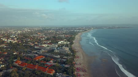 Great views from the sky to the beach at the ball