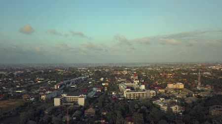 southeast : Aerial Bali Kuta summer clouds Stock Footage