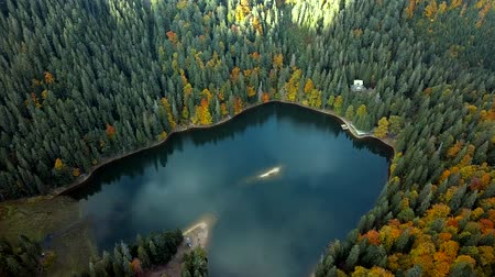 lake in the mountains Стоковые видеозаписи