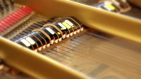piyano : Inside of old grand piano