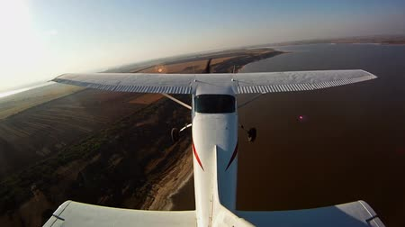 авиация : Flight on a private jet timelapse, POV