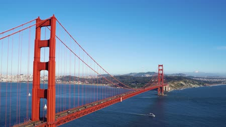 Golden Gate Bridge aerial view San Francisco California State.