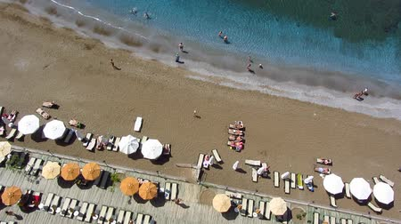 bird's eye view : Beach aerial view
