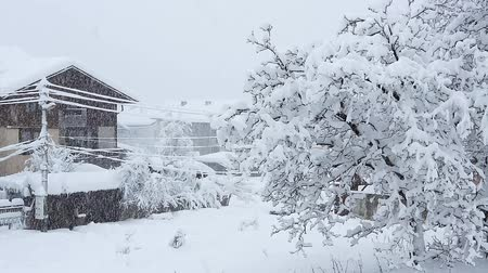 hóvihar : Blizzard  and heavy snowfall in Bansko, Bulgaria