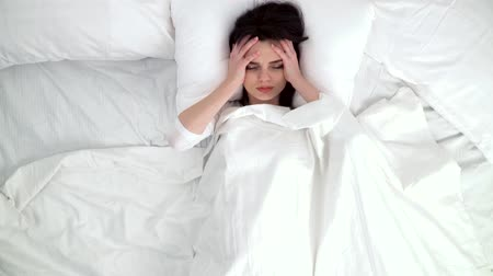 wakeup : Woman Waking Up With Headache In Bed