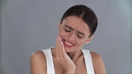 bol : Tooth Ache. Portrait Of Unhappy Woman With Strong Teeth Pain
