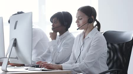 operators : Call center. On-line Helpline At Contact Center