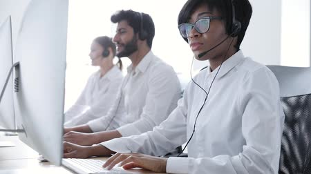 телефон доверия : Call center. People In Headsets Working At Customer Support Service, Consulting Clients Online
