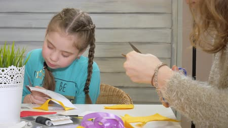 кукла : Girls at the lesson with the teacher sew a soft toy with their own hands