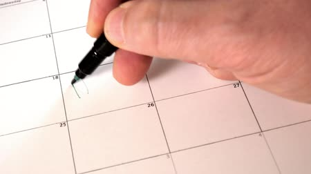 kleszcz : Sign the day in the calendar with a pen, draw a good bad day Wideo