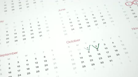 kleszcz : Sign the day in the calendar with a pen, draw a tick