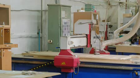 timber cutting : work of the milling machine, prepares wooden blanks for the door, the production of village interior doors