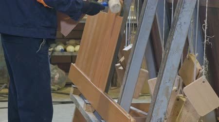 carpintaria : the process of collecting doors from wooden blanks, the production of wooden doors