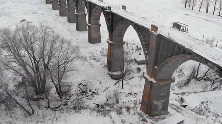 passar : old bridge aerial survey in winter