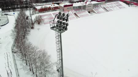 terrain football : outdoor stadium aerial video photography