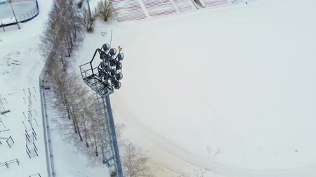 bleachers : outdoor stadium aerial video photography