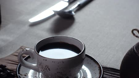 turk : Turkish coffee in the cup. traditional turkish coffee Stock Footage