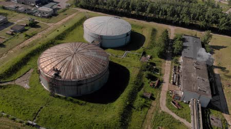 Oil storage summer aerial survey 무비클립