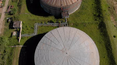 Oil storage summer aerial survey Vídeos