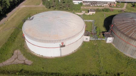 Oil storage summer aerial survey Stock mozgókép