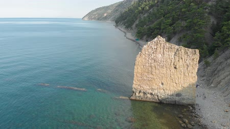 skala : Rock in the sea. Aerial shot
