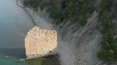 sail rock : Rock in the sea. Aerial shot