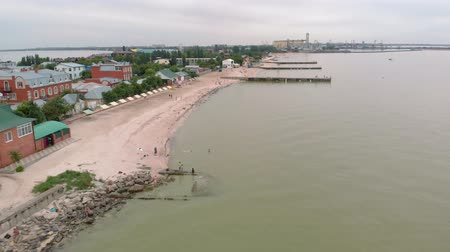 плевать : Stone spit in the sea. Aerial shot