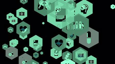 bouton d urgence : Abstract background Animation movement of medical icons for futuristic cyber technology