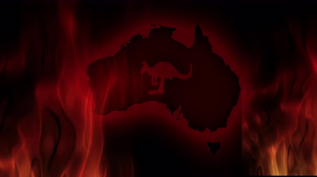 salvezza : Incendi in Australia. Video in movimento illustrazione vettoriale.
