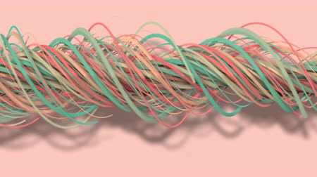 estigma : 3D motion,3D rendering, abstract geometric background, lines The circle points are very close together. Until seeing a free curve Many lines that rotate together into a rope. Light pink tone