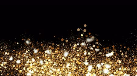 shiny : 3d Illustration, Small gold dust, graphics of fire flakes, particle points and yellow-orange circles