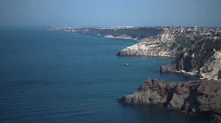 território : Landscape in the historical place of the Crimea. Sea territory at the foot of the mountains. Sea trips.
