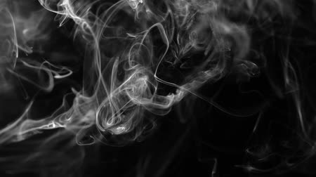 paranormaal : Abstract smoke on black background