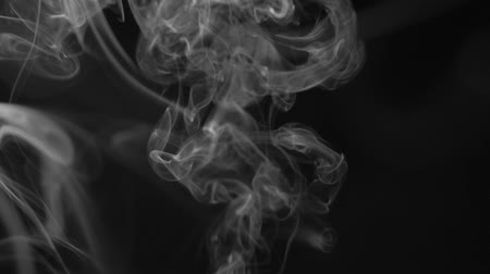 incienso : white smoke on black background, smoke background, abstract smoke on black background