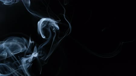 pic : Real smoke on black background