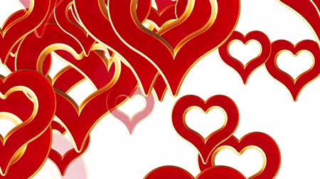 valentin nap : Flying hearts, wedding background animation, valentines day, red heart with alpha matte