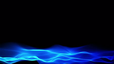 ondas : abstract blue background, blurred wave motion effect on black background Vídeos