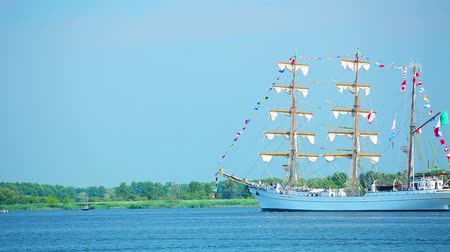 kotva : Sailing ship at sunny summer day, beautiful large tall ship